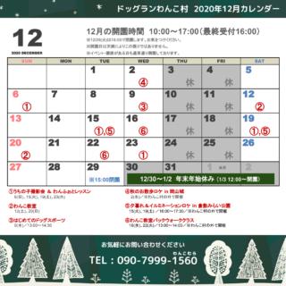 12月のカレンダーです